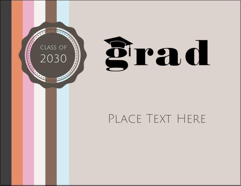 """4¼"""" x 5½"""" Postcard - Grad Cap"""