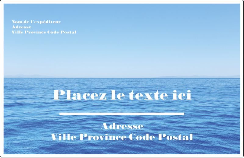 """8½"""" x 5½"""" Étiquettes d'expédition - Ciel-océan"""