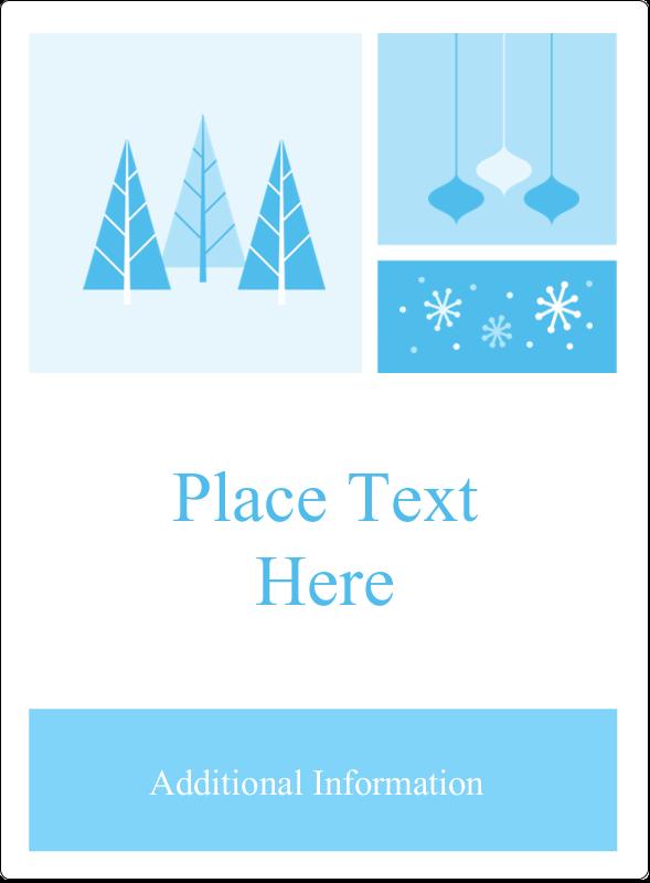 "4¾"" x 3½"" Rectangular Label - Retro Winter Wonderland"