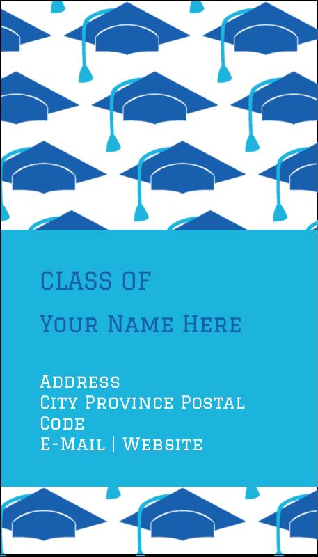 "3½"" x 2"" Business Card - Grad Caps"