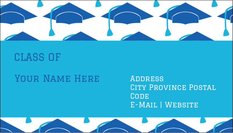 "2"" x 3½"" Business Card - Grad Caps"