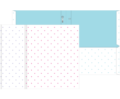 Mini Dots Two-Pocket Paper Folders