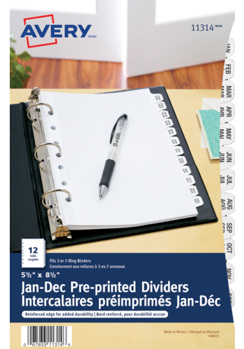 Avery<sup>®</sup> Preprinted Dividers - Avery<sup>®</sup> Preprinted Dividers