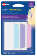 "Avery UltraTabs™ Filing Tabs 3"" x 1½"" Pastel Assorted 74777"