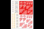 Découpage lunaire Cartes Et Articles D'Artisanat Imprimables - gabarit prédéfini. <br/>Utilisez notre logiciel Avery Design & Print Online pour personnaliser facilement la conception.