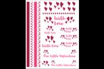 Notre Valentin Cartes Et Articles D'Artisanat Imprimables - gabarit prédéfini. <br/>Utilisez notre logiciel Avery Design & Print Online pour personnaliser facilement la conception.