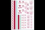 Amour Cartes Et Articles D'Artisanat Imprimables - gabarit prédéfini. <br/>Utilisez notre logiciel Avery Design & Print Online pour personnaliser facilement la conception.