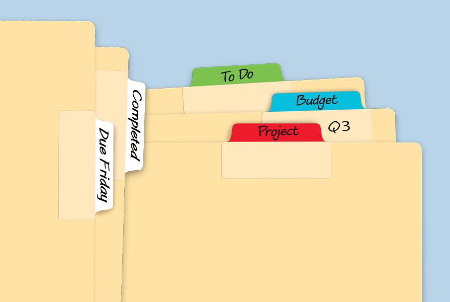 Avery UltraTabs - Onglets de Classment sur des fichiers
