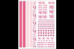 XOXO Cartes Et Articles D'Artisanat Imprimables - gabarit prédéfini. <br/>Utilisez notre logiciel Avery Design & Print Online pour personnaliser facilement la conception.