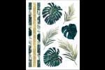 Mariage tropical Cartes Et Articles D'Artisanat Imprimables - gabarit prédéfini. <br/>Utilisez notre logiciel Avery Design & Print Online pour personnaliser facilement la conception.