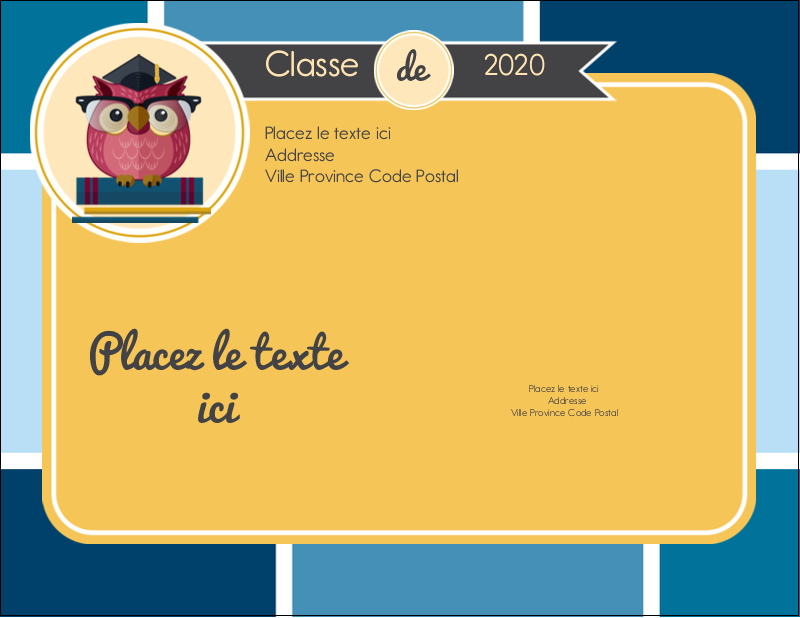 "5½"" x 4¼"" Carte Postale - Hibou diplômé"