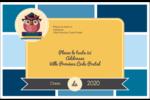 Hibou diplômé Étiquettes d'expédition - gabarit prédéfini. <br/>Utilisez notre logiciel Avery Design & Print Online pour personnaliser facilement la conception.