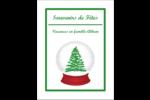 Boule à neige arbre de Noël Reliures - gabarit prédéfini. <br/>Utilisez notre logiciel Avery Design & Print Online pour personnaliser facilement la conception.