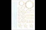 Couronne d'or nuptiale Cartes Et Articles D'Artisanat Imprimables - gabarit prédéfini. <br/>Utilisez notre logiciel Avery Design & Print Online pour personnaliser facilement la conception.
