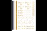 Poussière d'or nuptiale Cartes Et Articles D'Artisanat Imprimables - gabarit prédéfini. <br/>Utilisez notre logiciel Avery Design & Print Online pour personnaliser facilement la conception.
