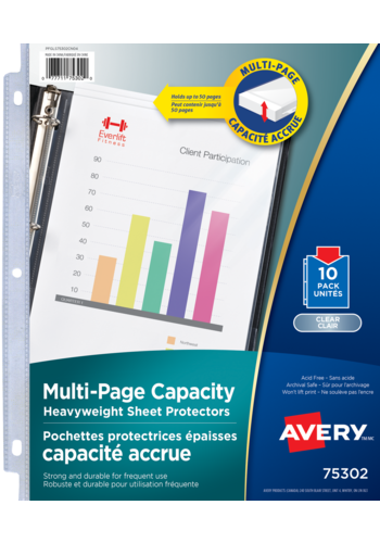 Avery<sup>®</sup> Multi-Page Capacity Sheet Protectors - Avery<sup>®</sup> Multi-Page Capacity Sheet Protectors