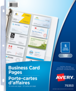 Avery<sup>®</sup> porte-cartes d'affaires pour reliures 75353