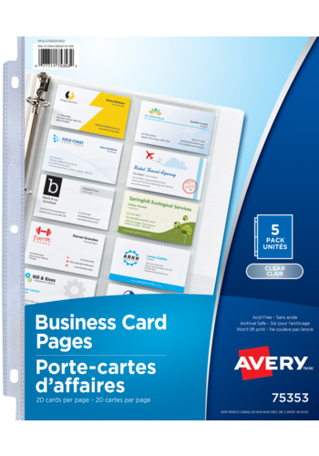 Avery<sup>®</sup> Business Card Pages - Avery<sup>®</sup> Business Card Pages