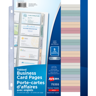 Avery® Tabbed Business Card Pages