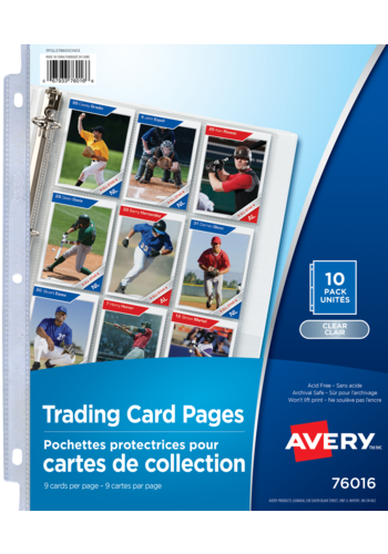 Avery<sup>®</sup> Trading Card Pages - Avery<sup>®</sup> Trading Card Pages
