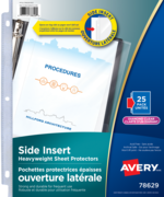 Avery<sup>®</sup> Side Insert Sheet Protectors 78629