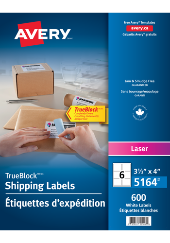Avery<sup>®</sup> Shipping Labels with TrueBlock™ Technology - Avery<sup>®</sup> Shipping Labels
