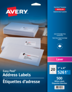 Avery<sup>®</sup> Address Labels with Easy Peel<sup>®</sup> 5261