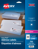 Avery<sup>®</sup> Address Labels with Easy Peel<sup>®</sup> 5260