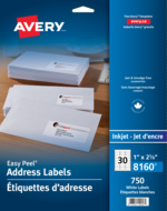 Avery<sup>®</sup> Address Labels with Easy Peel<sup>®</sup> 8160