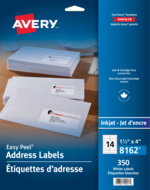 Avery<sup>®</sup> Address Labels with Easy Peel<sup>®</sup> 8162