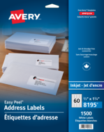 Avery<sup>®</sup> Address Labels with Easy Peel<sup>®</sup> 8195