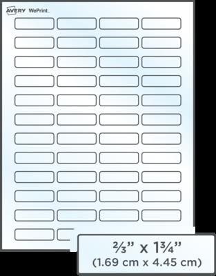 Étiquettes d'adresse transparentes imprimées personnalisées