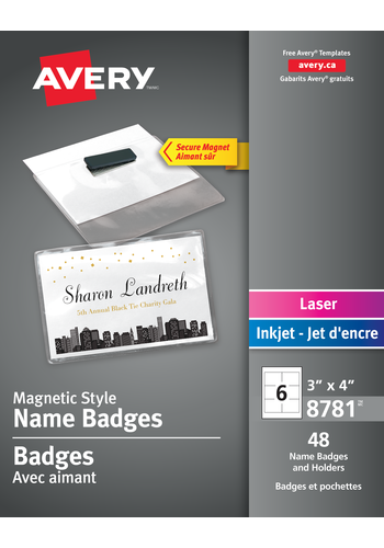 Avery<sup>®</sup> Magnetic Style Name Badge Kit - Avery<sup>®</sup> Magnetic Style Name Badge Kit
