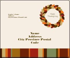 "3⅓"" x 4"" Shipping Label - Acorn Wreath"