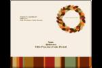 Couronne de glands Étiquettes d'expédition - gabarit prédéfini. <br/>Utilisez notre logiciel Avery Design & Print Online pour personnaliser facilement la conception.