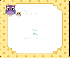 """3⅓"""" x 4"""" Shipping Label - Baby Owl"""