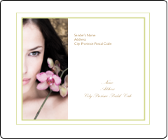 """3⅓"""" x 4"""" Shipping Label - Beauty Orchid Woman"""
