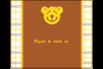 Ours jaune Étiquettes d'expédition - gabarit prédéfini. <br/>Utilisez notre logiciel Avery Design & Print Online pour personnaliser facilement la conception.