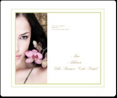 """3⅓"""" x 4"""" Étiquettes d'expédition - Femme aux orchidées"""