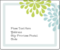 """3⅓"""" x 4"""" Shipping Label - Blue Green Blooms"""