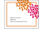 Fête prénuptiale en rose et orange Étiquettes d'expédition - gabarit prédéfini. <br/>Utilisez notre logiciel Avery Design & Print Online pour personnaliser facilement la conception.