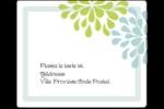 Fleurs bleues et vertes Étiquettes d'expédition - gabarit prédéfini. <br/>Utilisez notre logiciel Avery Design & Print Online pour personnaliser facilement la conception.