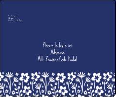 """3⅓"""" x 4"""" Étiquettes d'expédition - Petit bouquet bleu"""
