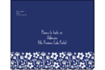 Petit bouquet bleu Étiquettes d'expédition - gabarit prédéfini. <br/>Utilisez notre logiciel Avery Design & Print Online pour personnaliser facilement la conception.