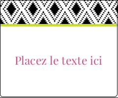 """3⅓"""" x 4"""" Étiquettes d'expédition - Damas décoratif"""