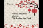 Nouvel An chinois Étiquettes d'expédition - gabarit prédéfini. <br/>Utilisez notre logiciel Avery Design & Print Online pour personnaliser facilement la conception.