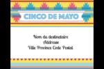 Serape de Cinco de Mayo Étiquettes d'expédition - gabarit prédéfini. <br/>Utilisez notre logiciel Avery Design & Print Online pour personnaliser facilement la conception.