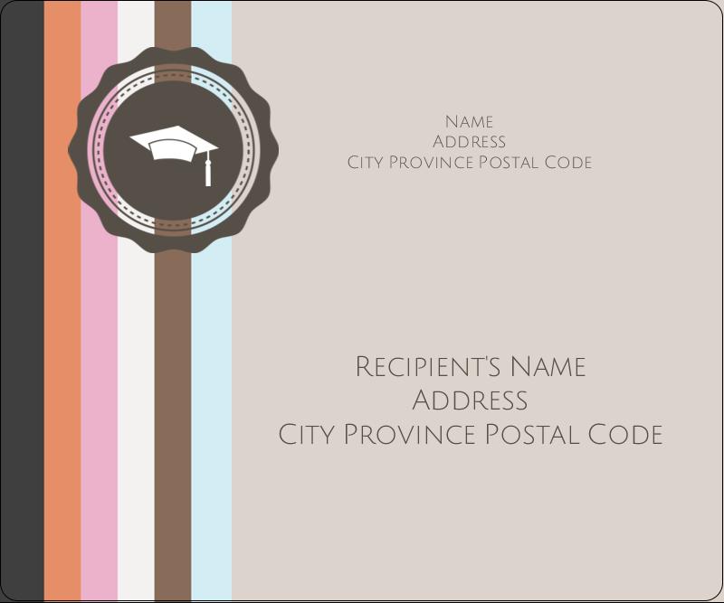 "3⅓"" x 4"" Shipping Label - Grad Cap"