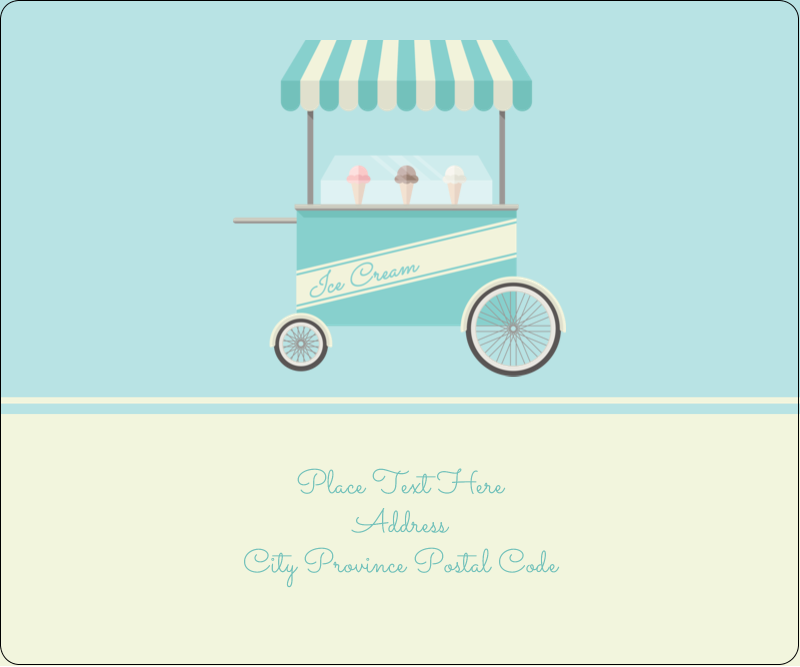 "3⅓"" x 4"" Shipping Label - Ice Cream Cart"