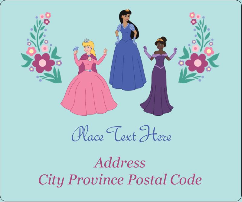 "3⅓"" x 4"" Shipping Label - Princesses"